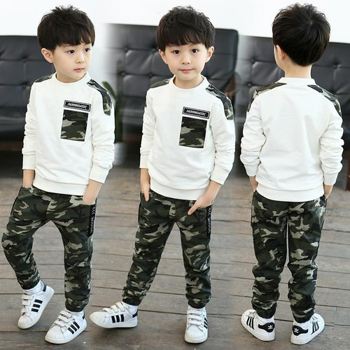 Children's Wear Boys' Spring /Autumn Camouflage Suit 2018 New Style Children's Camouflage Trend Set, Boy Sports Two Piece. - Joelinks store