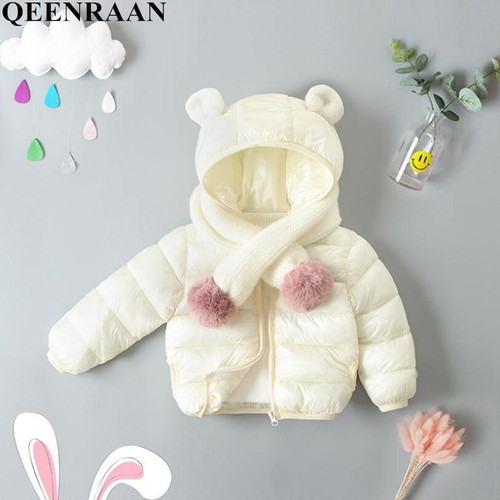 Kids Girls Jacket 2019 Autumn Winter Wearcoats Boys Girls Coat Children Warm Hooded Outerwear Infant Girls Single Coat No scarf - Joelinks store