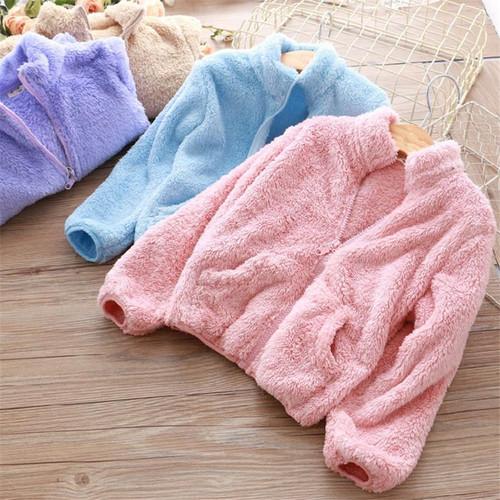 LILIGIRL Girls Fashion Jacket Coat Coral Fleece Super Soft Warm Jackets for Boys Winter Plush Tops Clothing Outwear - Joelinks store