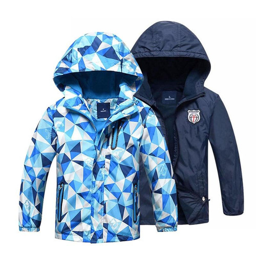 Kids Clothes Children Outerwear Warm Polar Fleece Coat Hooded Waterproof Windproof Baby Boys Jackets For 3-12Y Autumn Winter - Joelinks store