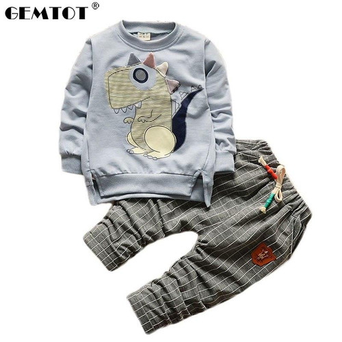 GEMTOT 2018 Boy Clothes Fashion Baby Boy Clothing Sets Kid Full Clothes + Trousers Suit for Children Boys Kid Baby Clothing Set - Joelinks store
