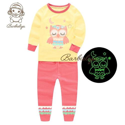 Luminous Pajamas For Boy Girl Children Clothes Long Sleeve Pyjamas Kids Clothing Set Sport Suit Home Sleepwear Cotton Costume - Joelinks store