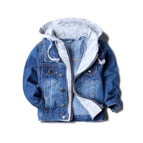 Handsome boy jackets coats hooded children kids spring&autumn baby boys denim jackets fashion coats kids outwear high qulity - Joelinks store