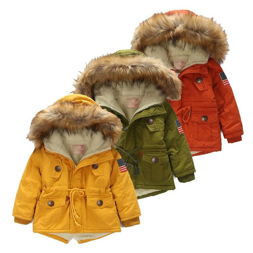 Kids coat 2018 Autumn Winter Boys Girls Jacket for Children Clothing Hooded Outerwear Teen Boy Clothes 4 5 6 7 8 9 Year Overcoat - Joelinks store