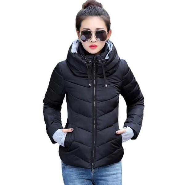 2019 new ladies fashion coat winter jacket women outerwear short wadded jacket female padded parka women's overcoat - Joelinks store
