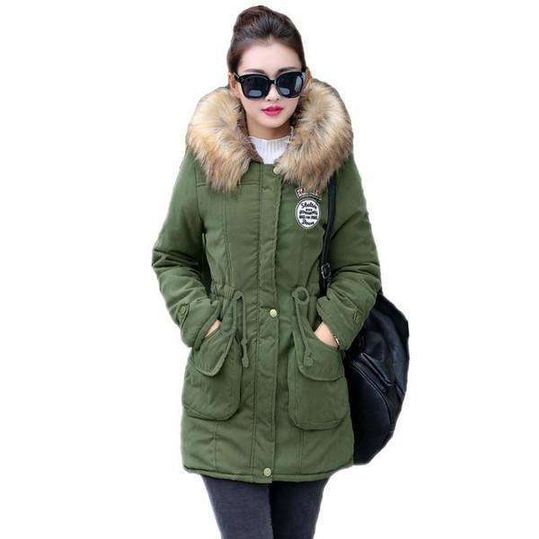 New Long Parkas Female Womens Winter Jacket Coat Thick Cotton Warm Jacket Womens Outwear Parkas Plus Size Fur Coat 2019 - Joelinks store