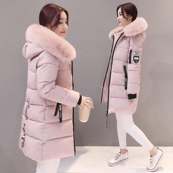 Parka Women Winter Coats Long Cotton Casual Fur Hooded Jackets Ladies Warm Winter Parkas Female Overcoat Women Coat MLD1268 - Joelinks store