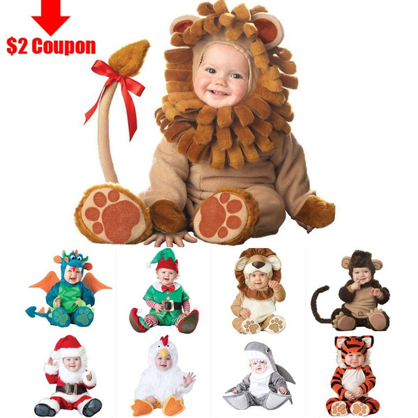 2019 Carnival Halloween Outfits Baby Boys Girls Costume Animal Cosplay Rompers Jumpsuit Toddlers Infant Clothes - Joelinks store