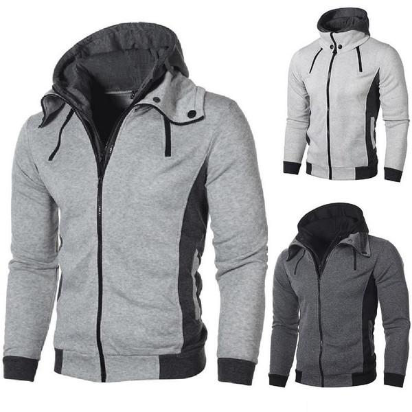 NIBESSER Winter Warm Hoodies Sweatshirts Men Fashion Solid Cardigan Mens Oversized Clothing Casual Streetwear Hoodie Sweatshirt - Joelinks store