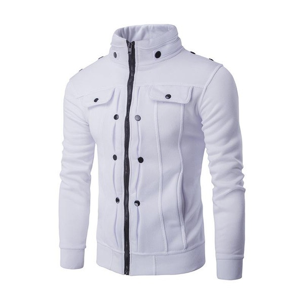 Mens Jackets Basic Coats Solid Color Jacket Male Casual Stand Collar Cotton Coat Zipper Slim Fit Outerwear 2019 Spring Fashion - Joelinks store
