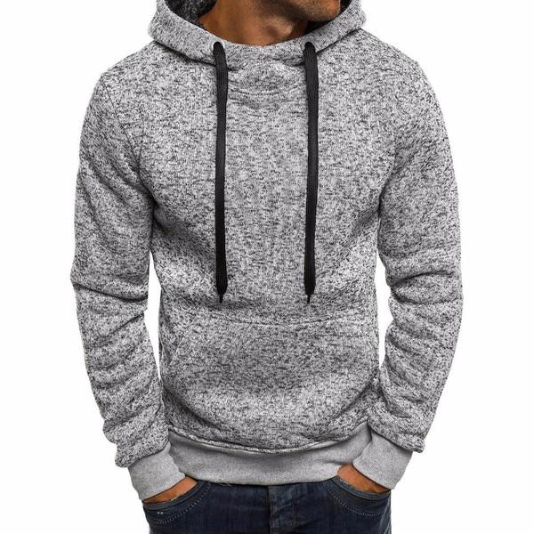 Winter Solid Hoodie 2019 New Men's Casual Tracksuits Mens Hip Hop Coat Pullover Sweatshirt Men Hoodies Moleton Masculino top - Joelinks store