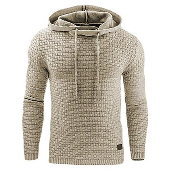 Hoodies Men  Brand Male Long Sleeve Solid Color Hooded Sweatshirt Mens Hoodie Tracksuit Sweat Coat Casual Sportswear S-4XL - Joelinks store