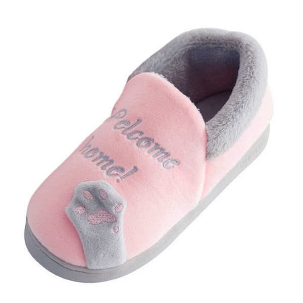SAGACE Slippers Cartoon Cat Indoor Home Slippers Warm Soft Plush slippers Comfortable Indoor Fur Slippers Women Shoes - Joelinks store