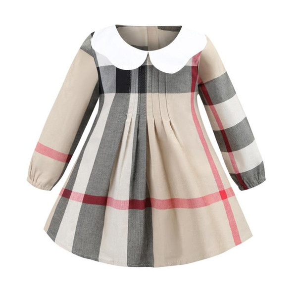 Long Sleeve Baby Girl Dress Plaid Bow Kids Girls Dresses Spring Autumn Princess Girl Clothes Children Dresses 2-8 Years - Joelinks store