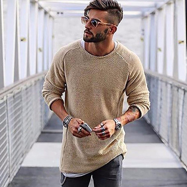 Autumn Winter Fashion Brand Clothing Men's Sweaters O-Neck Solid Color Slim Fit Cool Men Pullover 6 Colors Optional #258907 - Joelinks store
