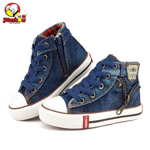 2019 Canvas Children Shoes Sport Breathable Boys Sneakers Brand Kids Shoes for Girls Jeans Denim Casual Child Flat Boots 25-37 - Joelinks store