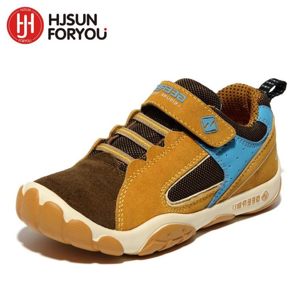 2019 Genuine Leather Children Shoes Size 28-40 Waterproof Kids Sneakers Breathable Girls and Boys Sports Shoes Outdoor Trainers - Joelinks store