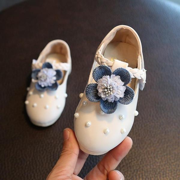 Baby Girl Shoes Toddler Girl Shoes For Children's Footwear Princess Flower White Pink Breathable Hooks Child Shoe Girl Sandals - Joelinks store