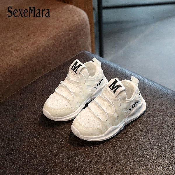 Toddler baby autumn children's sports shoes soft bottom running mesh breathable shoes boys girls shoes fashion sneakers A04045 - Joelinks store