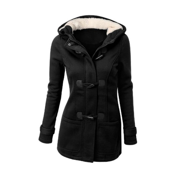 Women Basic Jackets 2018 Autumn Women's Overcoat Zipper Causal Outwear Coat Female Hooded Coat Casaco Feminino Ladies Jacket 5XL - Joelinks store