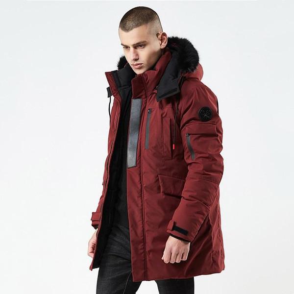 2019 New Winter Casual Long Style Hooded Epaulet Cotton Padded Jackets Men Thick Hat Windproof Fashion Men Parka Pockets Coats - Joelinks store