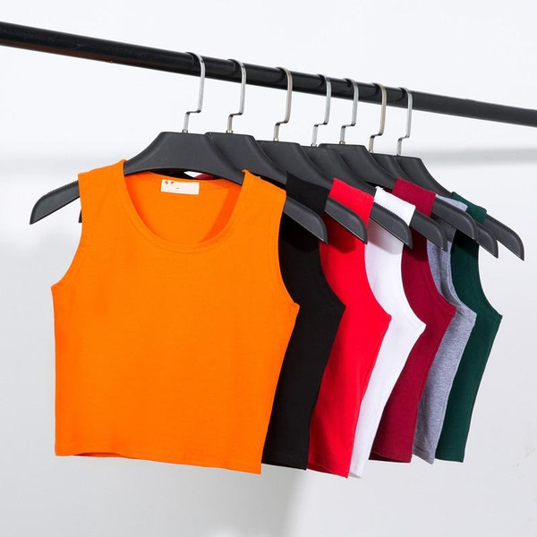 2020 New Summer Style Women Cotton Tank Top for Ladies Multicolor Casual Tops Sleeveless Crop Tank Top Camisole 14 Colors