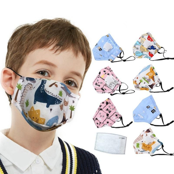 1Pcs Anti Dust Face Mouth Mask +Carbon Filter Reusable Breathable Cotton Protective Children Kid Cartoon PM2.5  Mouth Face Mask
