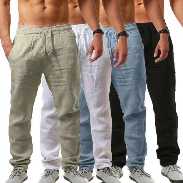 2020 Spring Summer Men's Trousers Thin Breathable Loose Slacks Pants Casual pants
