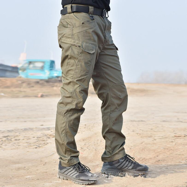 Waterproof Military Tactical Pants Men Autumn Casual Rip-Stop Cotton Cargo trousers