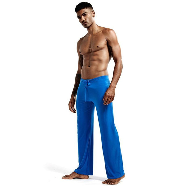 Pyjamas Trousers Soft Ice Silk Home Clothes Men's Casual Pants Breathable Homewear