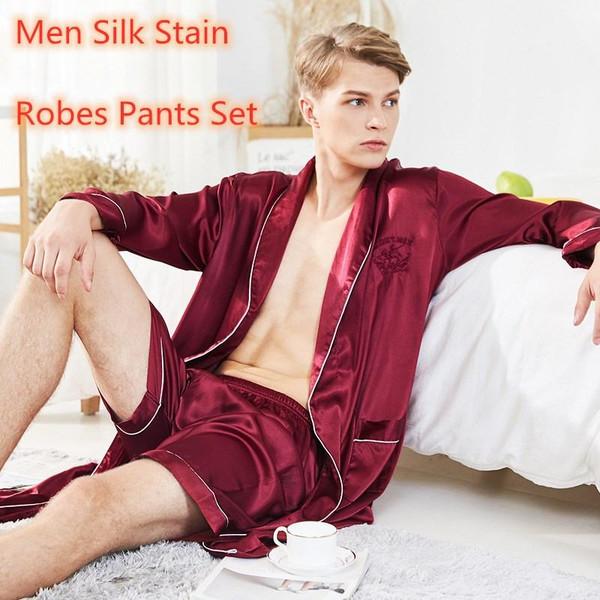 Men's Stain Silk Pajamas
