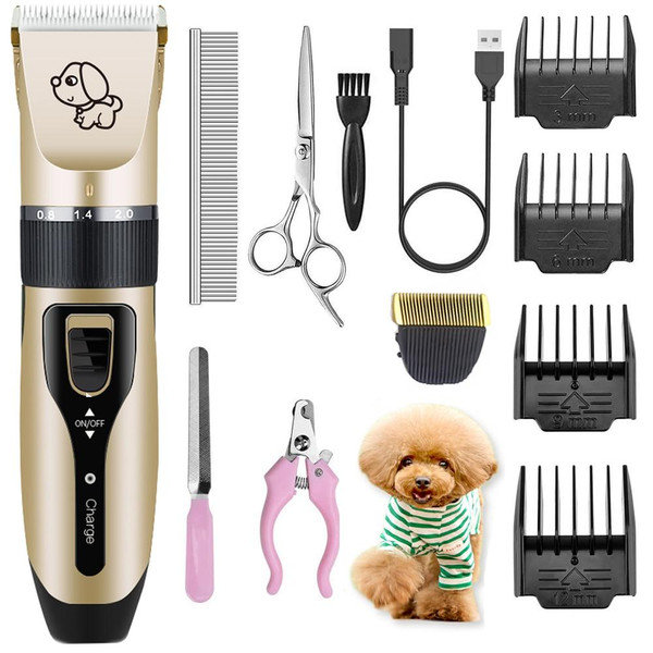 Electrical Dog Hair Trimmer USB Charging Pet Hair Clipper Rechargeable Low-noise