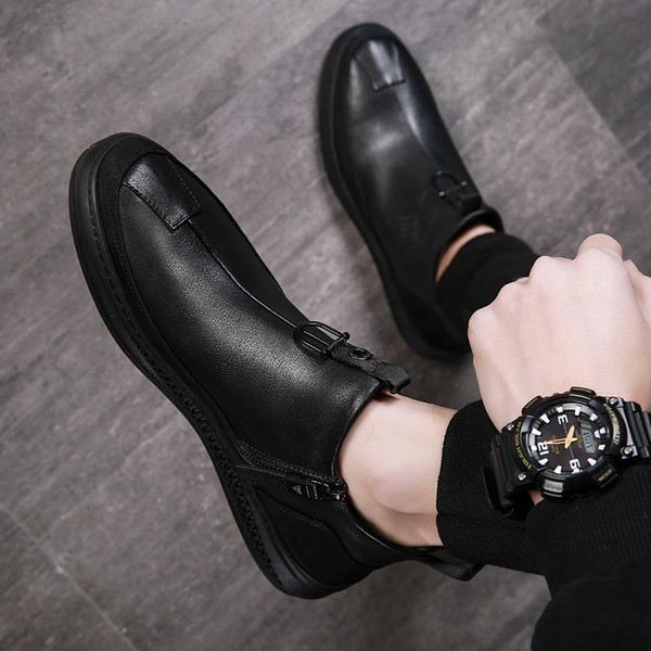 2020 Autumn Early Winter Shoes Men Genuine Leather Chelsea Boots
