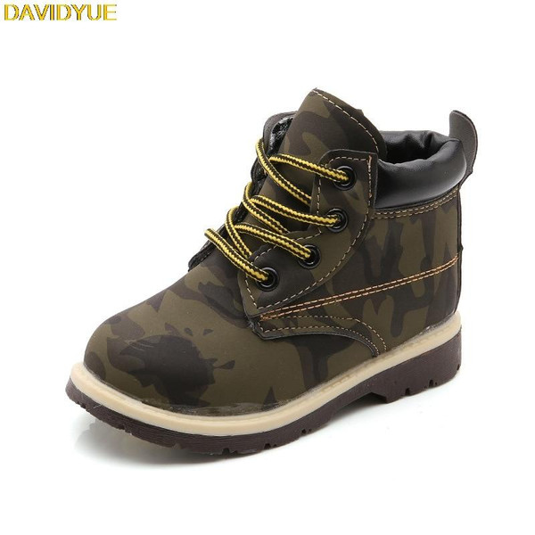 New kids boots  shoes for boys girls  children martin army boots