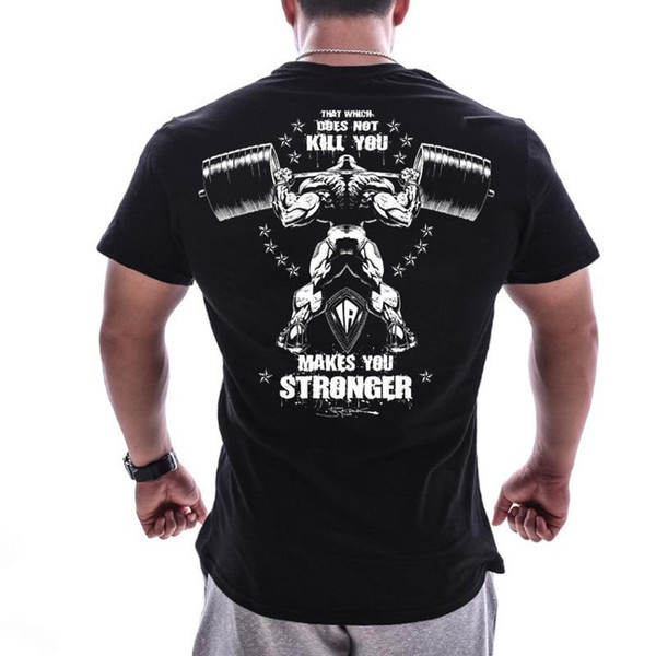 Men's T Shirt Bodybuilding Clothing Short sleeve Men  big size Casual For Male tops fitness oversized