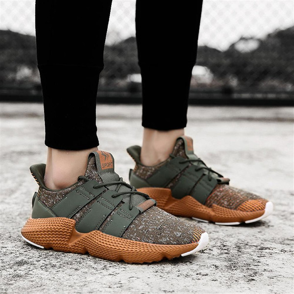 2018 Men Casual Shoes Spring and autumn Fly Weaving Shoes Comfortable High Quality Breathable Footwear For Male Damping Sneakers - Joelinks store