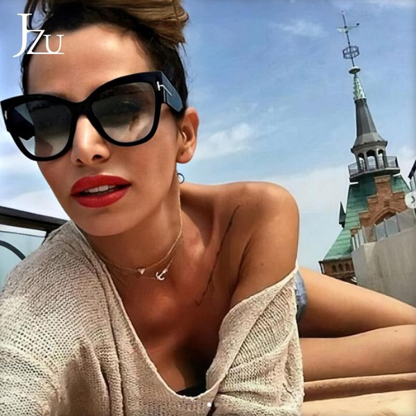 2019 New Brand Sunglasses Women Luxury Designer T Fashion Black Cat Eye