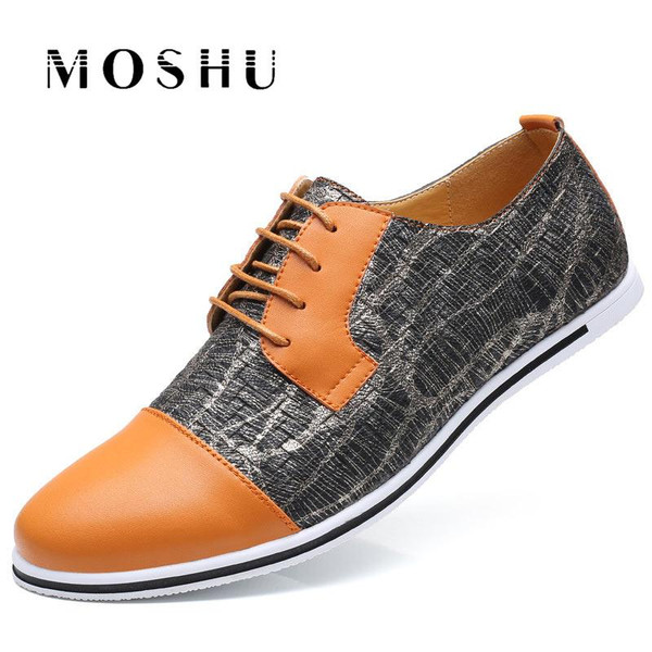 Fashion Summer Men Flats Oxford Breathable Casual Shoes Lace Up Mixed Colors Luxury Brand Plus Size 38-47 Male Shoes - Joelinks store