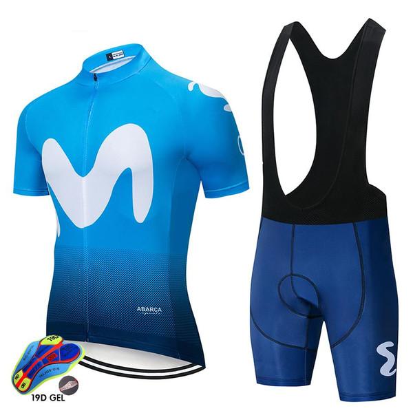 2020 Summer cycling Clothes Set  men Short Sleeve Blue Jersey