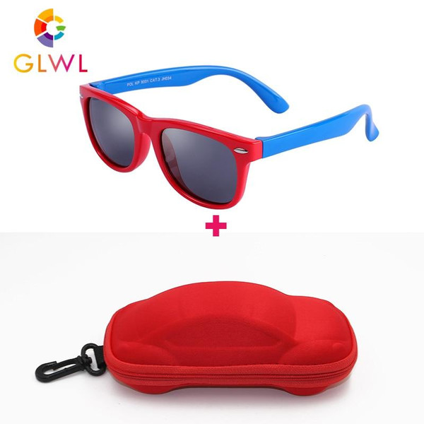 Kids Sunglasses Polarized Soft Frame Sun Glasses Girls Boys Silicone UV400