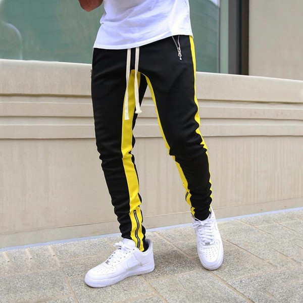 Mens Joggers Casual Pants Fitness Men Sportswear Tracksuit Bottoms Skinny Sweatpants
