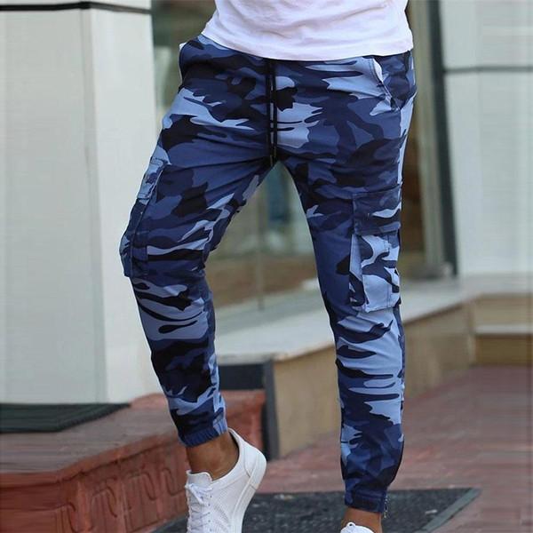 Camoflage Mens Jogging Sport Pants Men Long Joggers