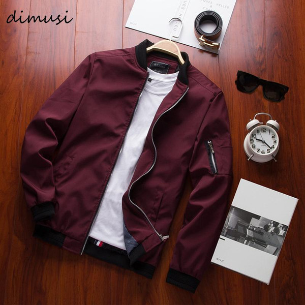 DIMUSI Spring New Men's Bomber Zipper Jacket Male Casual Streetwear Hip Hop