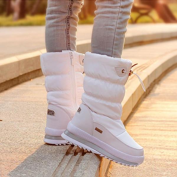 2018 Winter Platform girls Boots Children Rubber anti-slip Snow Boots Shoes for girl big Kids Waterproof Warm Winter Shoes Botas - Joelinks store