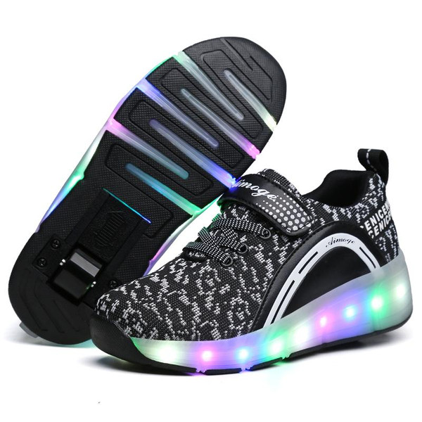2018 Heelys LED Light Sneakers with Wheel Boy Girl Roller Skate Casual Shoe with Roller Girl Zapatillas Zapatos Con Ruedas - Joelinks store