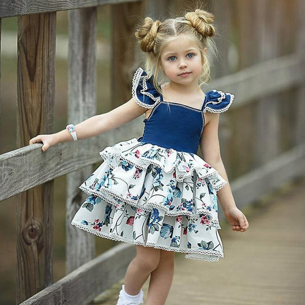 Kids Children Casual Party Dress For Girls Princess