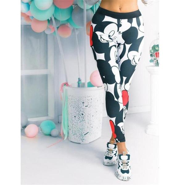 Fashion Mickey Women Leggings Women Sport Pants Women Gym