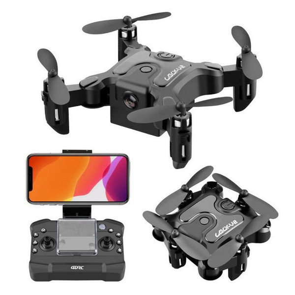 4DRC V2 Mini Dron 3 WiFi FPV with 720P HD Camera Altitude Hold Mode Foldable Mini Pocket RC Drone Quadcopter Helicopter Gift RTF