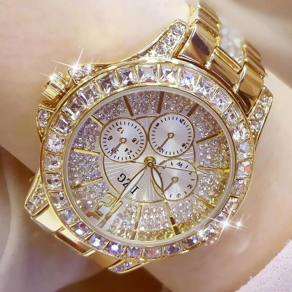 Fashion Women Watch with Diamond Watch Ladies Top Luxury Brand Ladies Casual Women's Bracelet Crystal