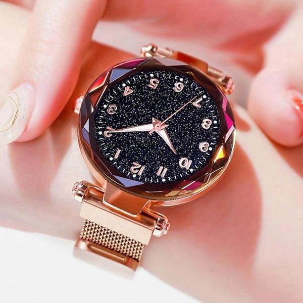 Luxury Women Watches Magnetic Starry Sky Female Clock Quartz Wristwatch Fashion Ladies